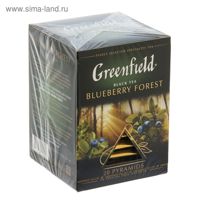 Чай черный Greenfield, Blueberry Forest, 20 пакетиков*1,8 г