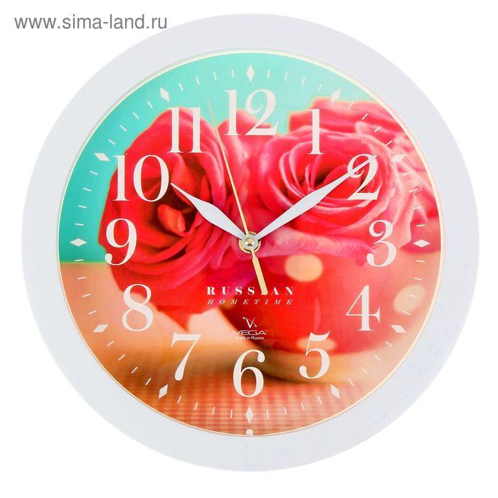 """Часы настенные """"Розовые розы"""","""