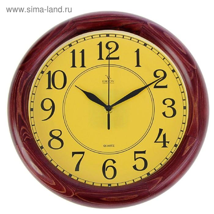 """Часы настенные круглые """"Классика бежевая"""", деревянный обод, 30х30см  микс"""