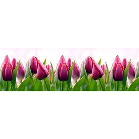 Фартук кухонный ПВХ Тюльпаны 3000х600х1,5