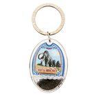 """Keychain """"Khanty-Mansiysk"""", series Black gold"""