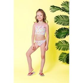 """Детский раздельный купальник """"Сердечко"""" ( рост 116-122 см, 6-7 лет), 100% полиэстер"""