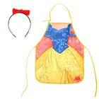 """Фартук для девочек """"Белоснежка"""", Принцессы: Белоснежка, + ободок с бантиком"""