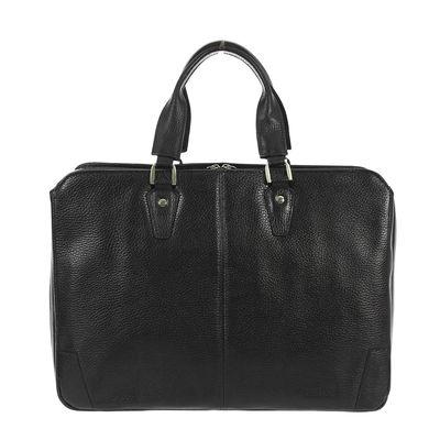 Портфель мужской на молнии, 2 отдела, 1 наружный карман, чёрный флотер