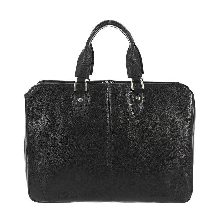 Портфель мужской на молнии, 2 отдела, 1 наружный карман, цвет чёрный флотер