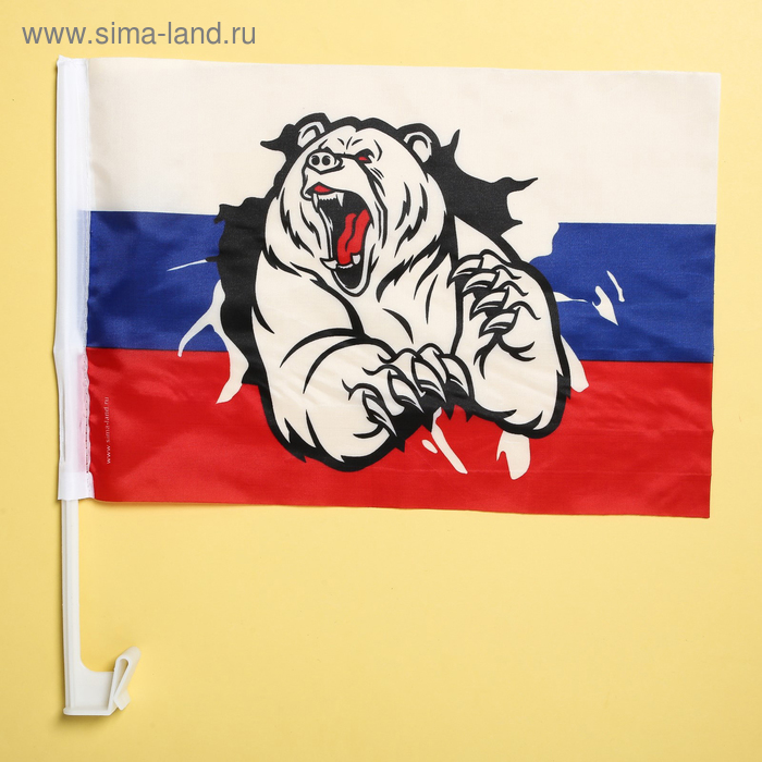 """Флаг автомобильный """"Медведь"""", 2 шт."""