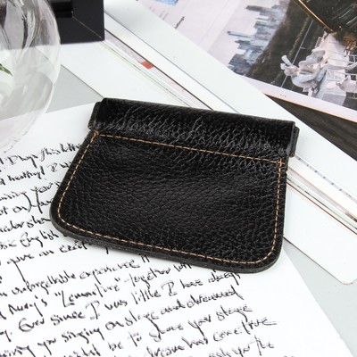 Футляр для монет, наружный карман, флотер, цвет чёрный