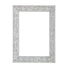 Рама для зеркал и картин, дерево, 21 х 30 х 4 см, «Версаль», цвет бело-серебристый
