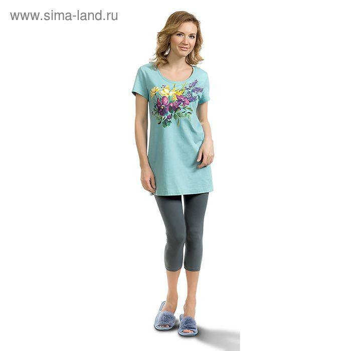 Пижама женская, цвет голубой, размер 42 (XS) (арт. PML683)