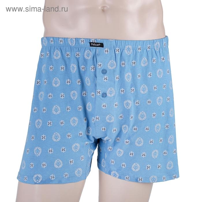 Трусы мужские боксеры, цвет синий, размер 52 (XXL) (арт. MB584)