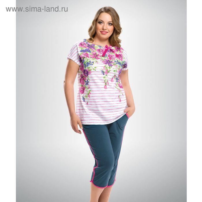 Пижама женская, цвет розовый, размер 52 (XXL) (арт. ZTB295)