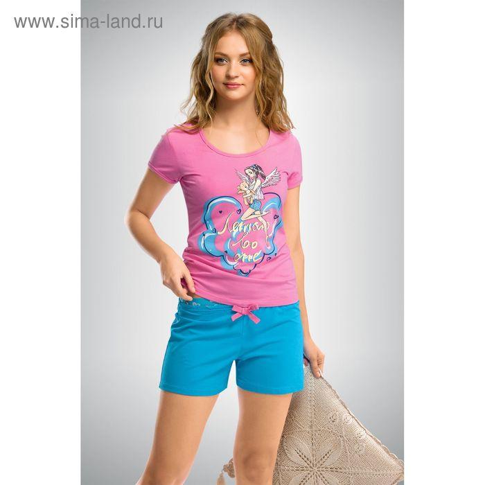 Пижама женская, цвет розовый, размер 50 (XL) (арт. PTH293)