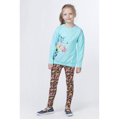 Брюки для девочки, рост 116-122 см, возраст 7 лет, цвет мульти