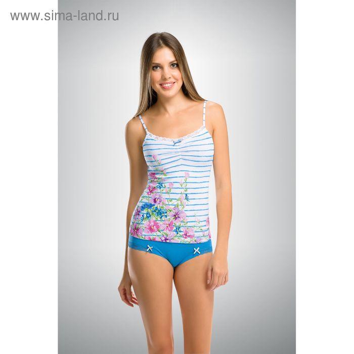 Комплект женский, цвет голубой, размер 44 (S) (арт. PAV290)