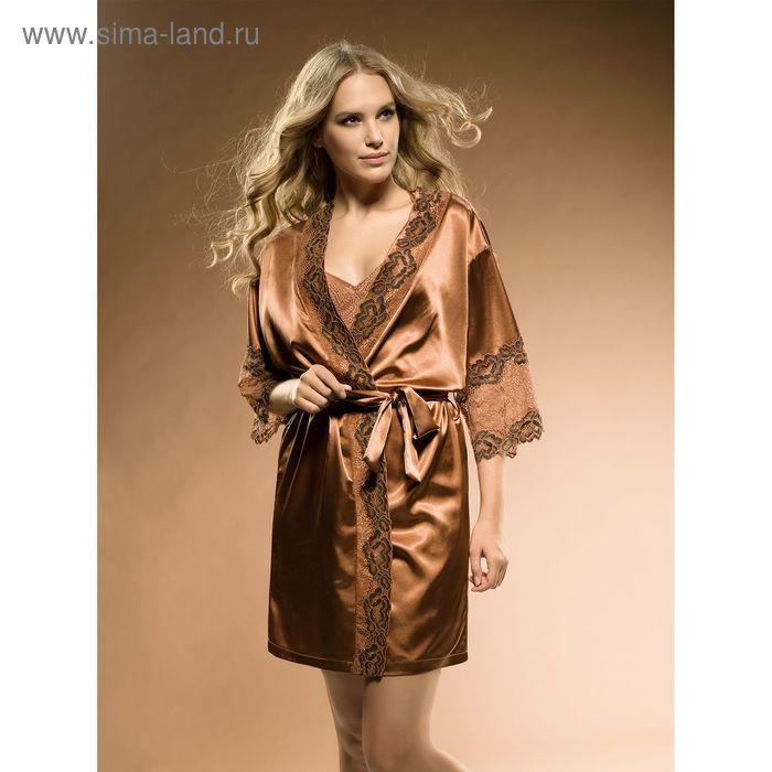 Халат женский, цвет бронзовый, размер 42 (XS) (арт. PG677)