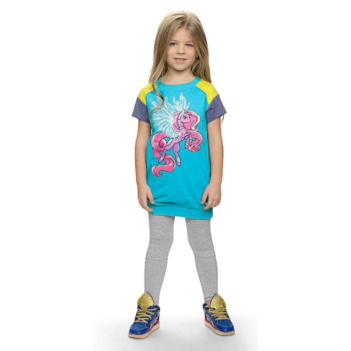 Комплект для девочки, рост 98-104 см, возраст 3 года, цвет бирюзовый