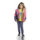 Ветровка для девочек, рост 122-128 см, возраст 7 лет, цвет розовый (арт. GZIN488/1)