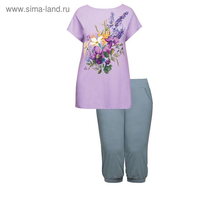 Пижама женская, цвет сиреневый, размер 54 (3XL) (арт. ZTB683)