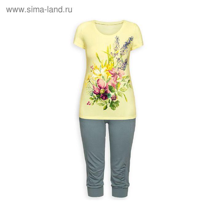 Пижама женская, цвет лимонный, размер 42 (XS) (арт. PTB683)