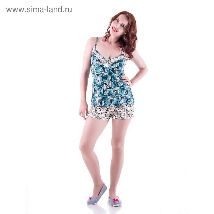 Пижама женская с цветочным орнаментом, размер 44 (S) (арт.PVH680)