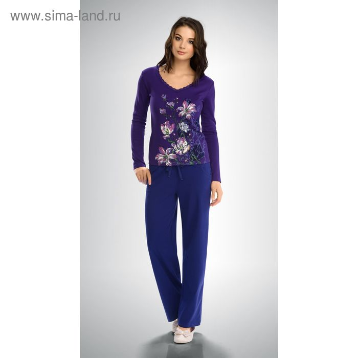 Пижама женская, цвет тёмно-голубой, размер 48 (L) (арт. PJP253)
