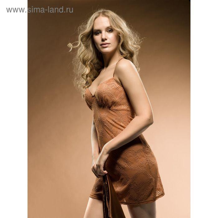 Сорочка женская, цвет бронзовый, размер 46 (M) (арт. PDN677)