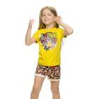 Комплект для девочки, рост 104-110 см, возраст 4 года, цвет жёлтый