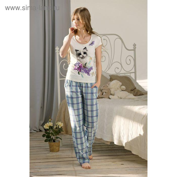 Пижама женская, цвет кремовый, размер 46 (M) (арт. PTP683)