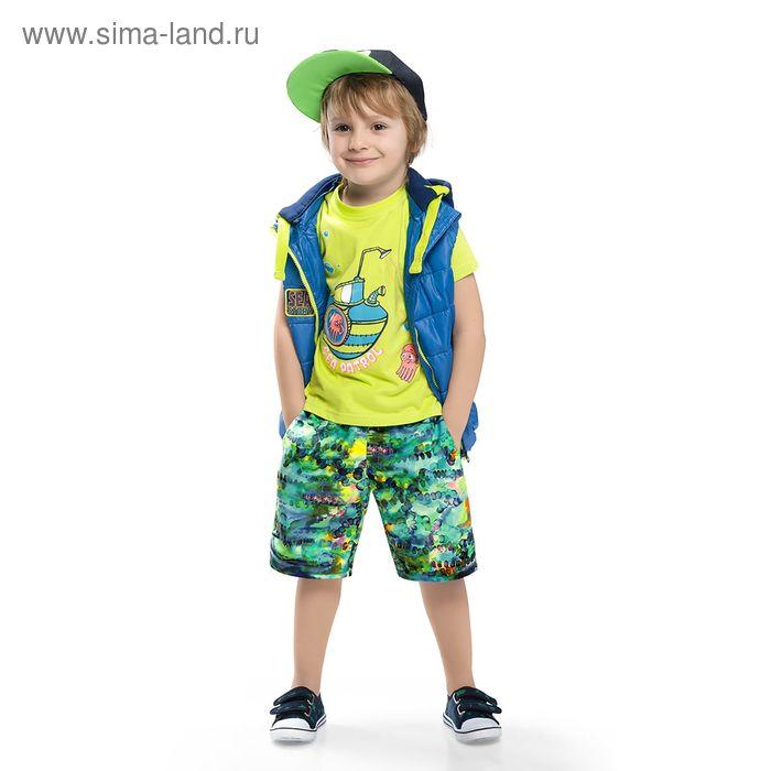 Футболка для мальчика, рост 98-104 см, цвет салатовый BTR368_Д