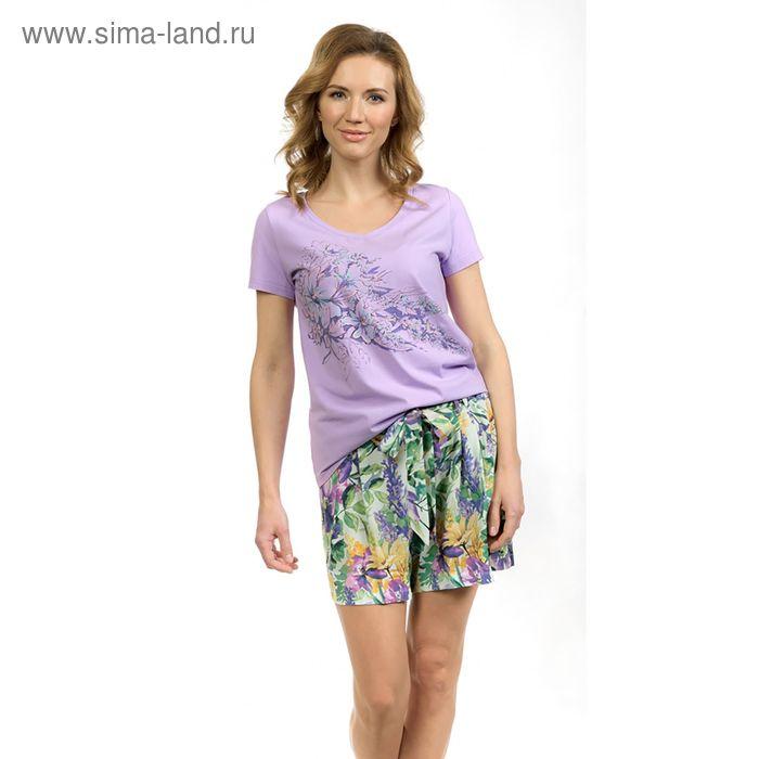 Пижама женская, цвет сиреневый, размер 44 (S) (арт. PTH683)