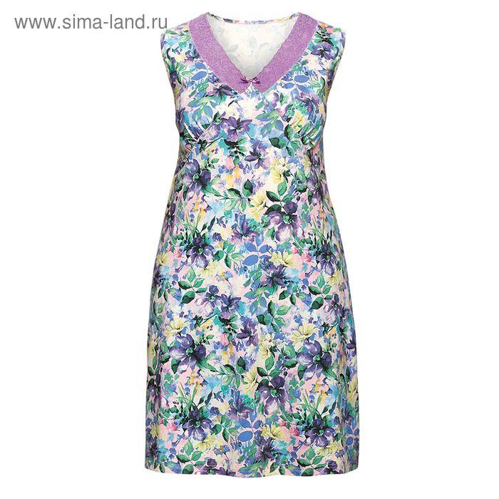 Сорочка женская, цвет сиреневый, размер 52 (XXL) (арт. ZDV683)