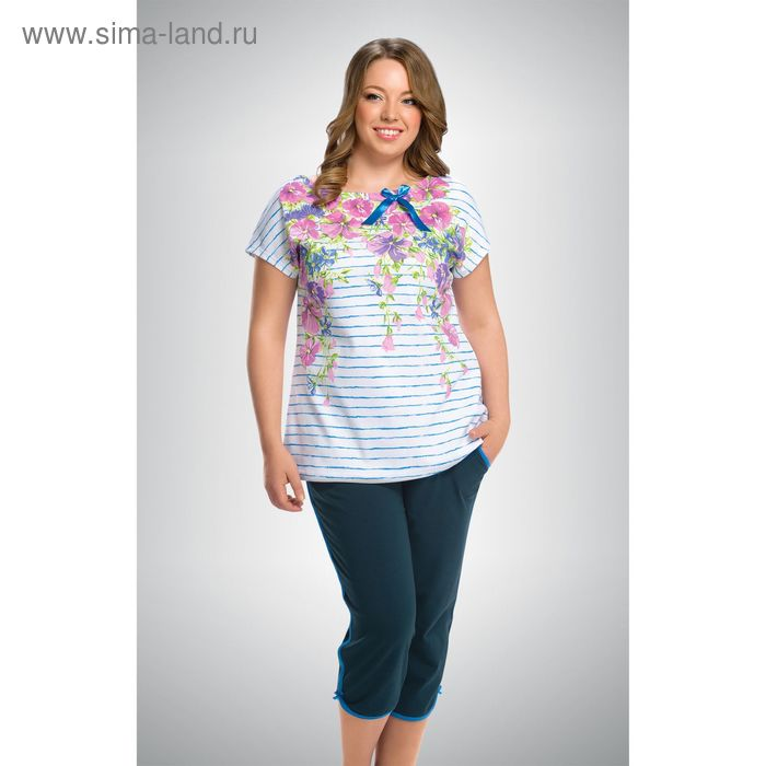 Пижама женская, цвет голубой, размер 52 (XXL) (арт. ZTB295)