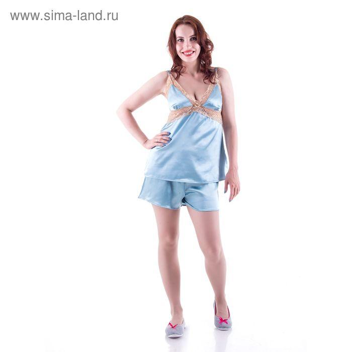 Пижама женская, цвет голубой, размер 44 (S) (арт. PVH672)
