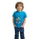 Футболка для мальчика, рост 92-98 см, цвет голубой