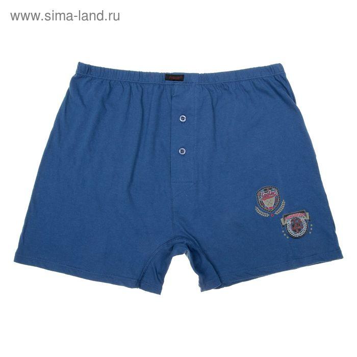 Трусы мужские боксеры, цвет тёмно-цвет голубой, размер 48 (L) (арт. MB603)