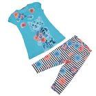 Комплект для девочки, рост 98-104 см, возраст 3 года, цвет голубой