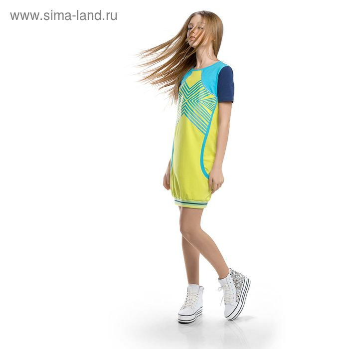 Платье для девочки, рост 140-146 см, возраст 10 лет, цвет зелёный (арт. GDT488)