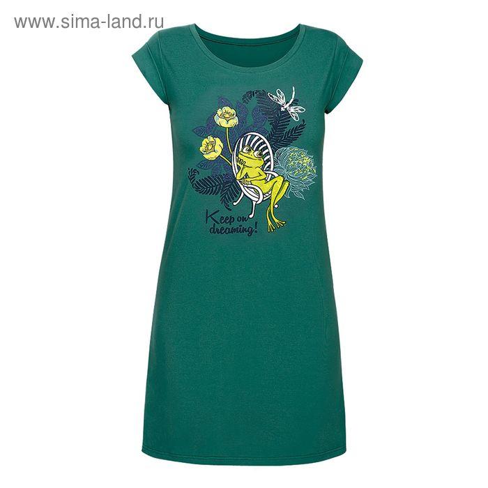 Сорочка женская, цвет зелёный, размер 44 (S) (арт. PDT680)