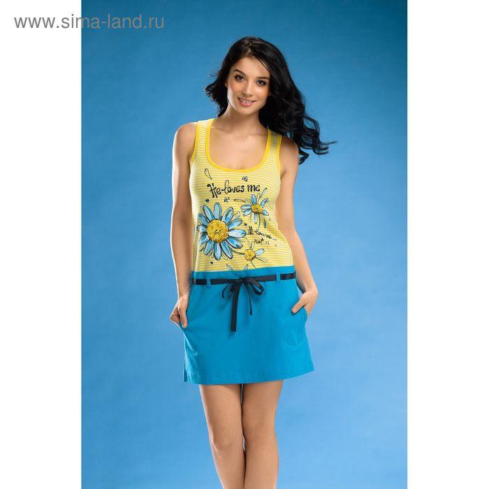 Платье женское, цвет голубой, размер 48 (L) (арт. PDV287)