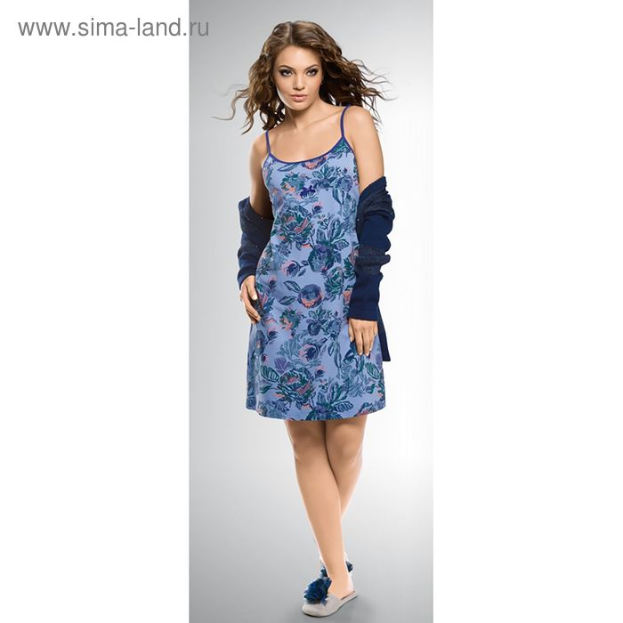 Сорочка женская, цвет синий, размер 44 (S) (арт. PDN674/1)