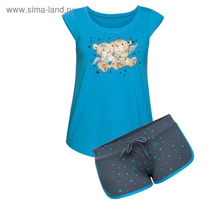 Пижама женская, цвет синий, размер 48 (L) (арт. PVH682/1)
