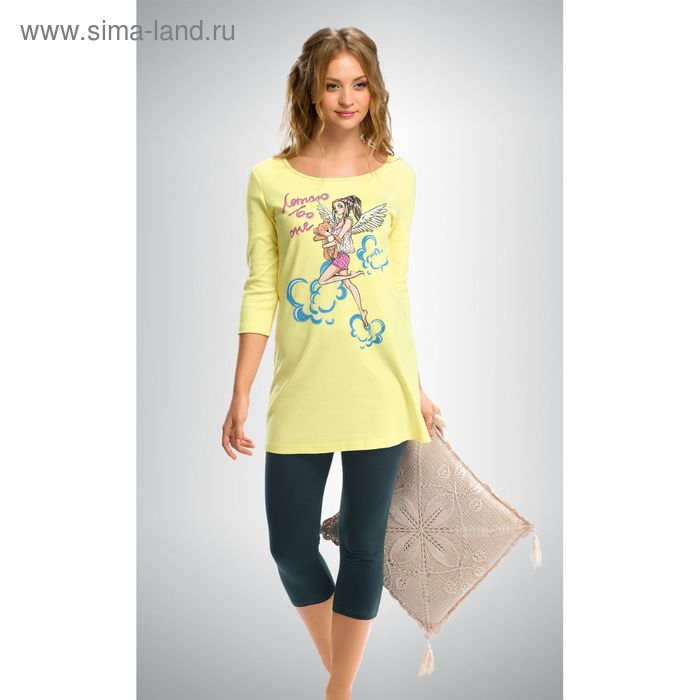 Пижама женская, цвет кремовый, размер 42 (XS) (арт. PML293)