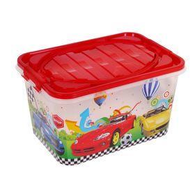 Ящик для игрушек 'Форсаж' с ручкой и крышкой, 15 л Ош