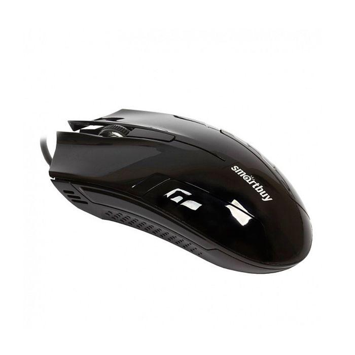 Мышь Smartbuy ONE 339, проводная, 1000 dpi, провод 1.4 м, USB, чёрная