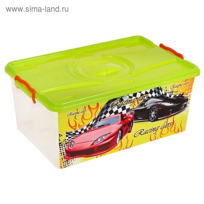 """Ящик для игрушек """"Формула-2"""" с крышкой, 40 л"""
