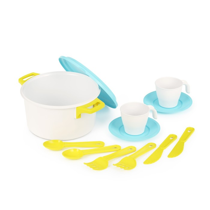 Набор посуды для кукол, «Хозяйка» на 2 персоны - фото 106542912