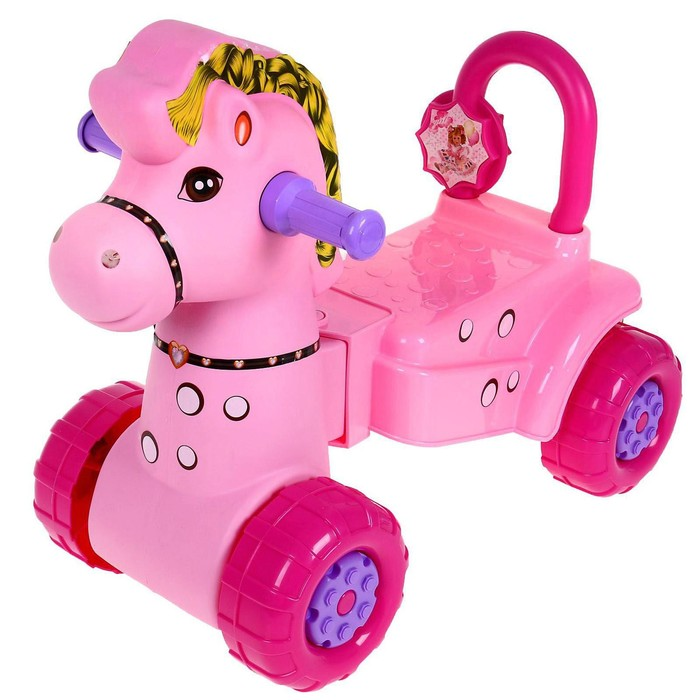 """Каталка детская """"Лошадка"""", розовая"""