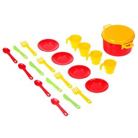 Набор посуды для кукол на 4 персоны «Хозяйка» Ош