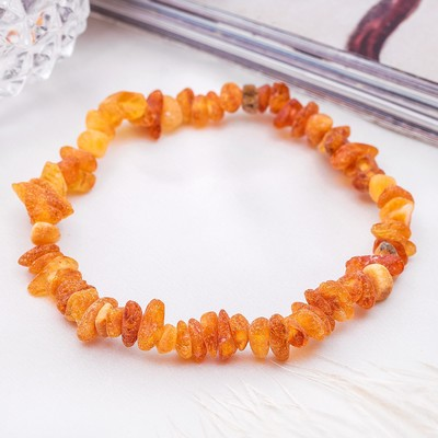 "Bracelet ""the amber"" a raw, bright, color cognac"