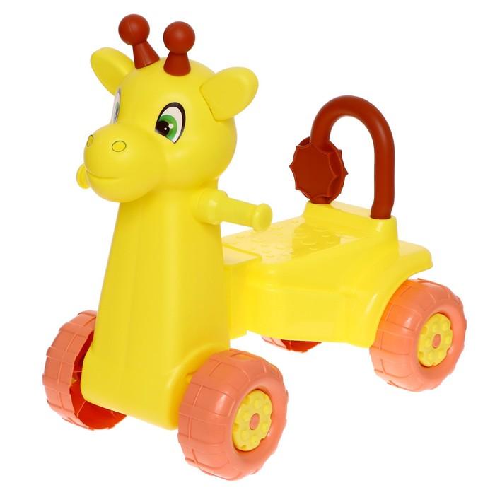 "Каталка детская ""Жираф"", жёлтая"